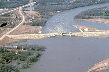 aerial image of Red River floodway