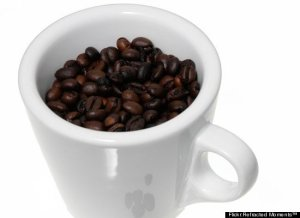 image of cup full of coffee beans