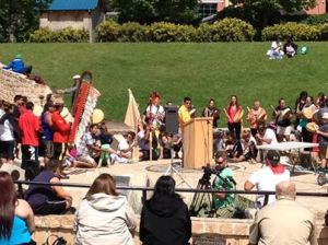 Ininiw Aski Quest Welcome at the Forks