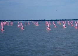 Sailboards on Lake Winnipeg