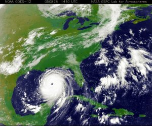 Satellite image of Hurricane Katrina, courtesy of NASA