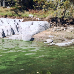Blue-green algae on the Winnipeg River 2014