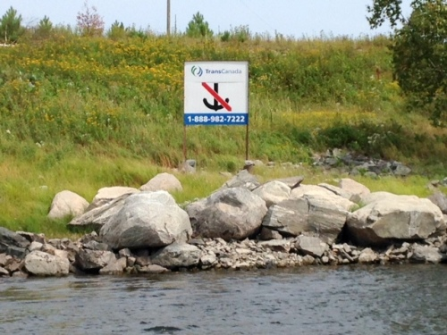 TransCanada pipeline crossing Winnipeg River near Kenora